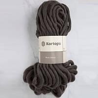 Пряжа Kartopu Wool Dekor коричневый №1890 для ручного вязания