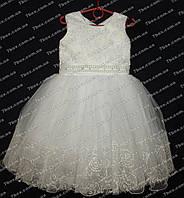 Детское платье бальное Роза (белое) Возраст 4-5 лет., фото 1