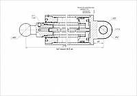 Гидроцилиндр толкающей плиты КО-415А, КО-429, АМК-892