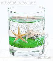 Свеча гелевая Чародейка морская зеленая