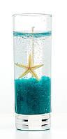 Свеча гелевая морская высокая