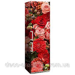 """Наклейка на холодильник """"Красные цветы"""""""