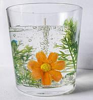 Свеча гелевая с цветком