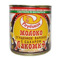 """Сгущенное молоко вареное """"Лакомка"""" Рогачев 380г"""