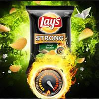 Чипсы Lays strong Васаби 120г