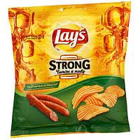 Чипсы Lays strong Охотничьи колбаски 120г