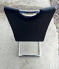 Стул обеденный экокожа на хромированных ножках Orlando (Орландо) DS-1007-1  Евродом, цвет черный, фото 2