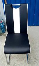 Стул обеденный экокожа на хромированных ножках Orlando (Орландо) DS-1007-1  Евродом, цвет черный, фото 3