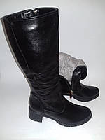Кожаные зимние сапоги 36 размера   / шкіряні зимові чоботи 3005 - 46