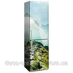 "Наклейка на холодильник ""Тропа в горах"""