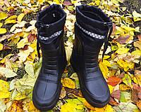 Мужские сапоги с утеплителем ПЕНА (ЭВА) черные 45