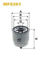 Фильтр топливный Hyundai Accent II, Getz, Matrix (производитель Wix-Filtron) WF8361