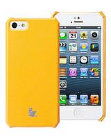 Чехол для iPhone 5/5S - Jison Microfiber wallet cover (желтый)