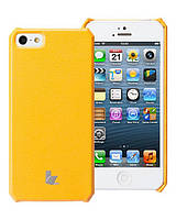 Чехол для iPhone 5/5S - Jison Microfiber wallet cover (желтый)