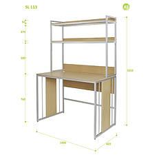 Письменный Стол (Стол для Ноутбука) с Надстройкой Aluint Solo 113, фото 2