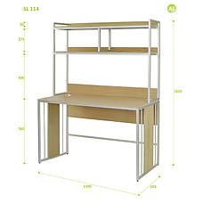 Письменный Стол (Стол для Ноутбука) с Надстройкой Aluint Solo 114, фото 2
