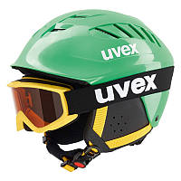Шлем лыжный/сноубордический детский UVEX X-RIDE JR SET - GREEN UVEX