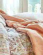 Набор постельное белье с пледом Karaca Home Luminda розовый евро размера, фото 2