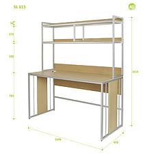 Письменный Стол (Стол для Ноутбука) с Надстройкой Aluint Solo 115, фото 2