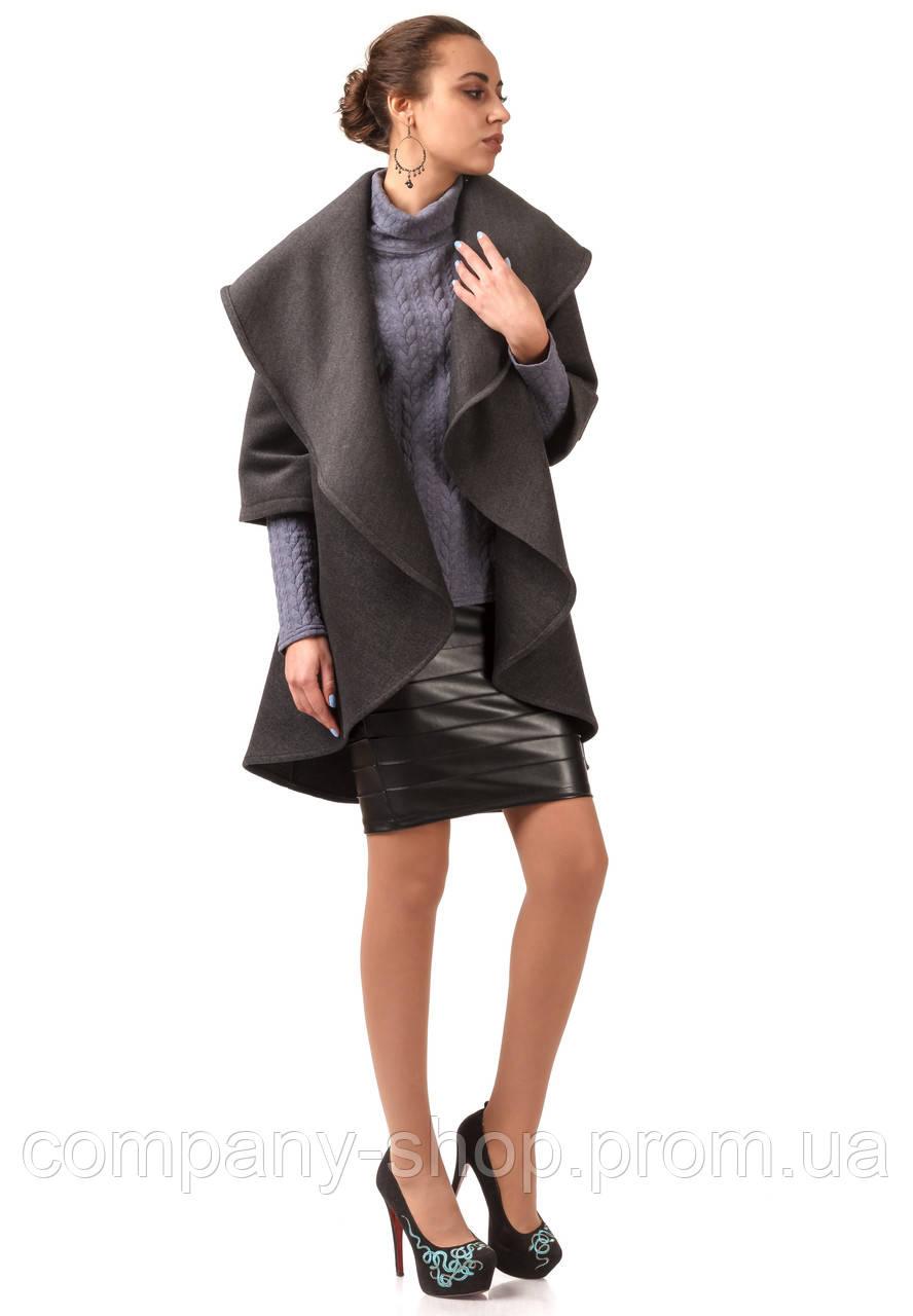Кейп кашемировый женский опт. Модель ПЛ001_серый.