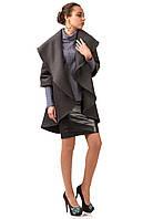 Кейп кашемировый женский опт. Модель ПЛ001_серый., фото 1