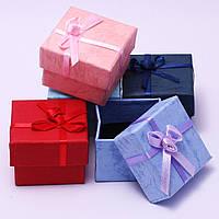 Подарочная коробочка для кольца  и серьг - Микс с розочкой
