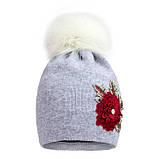 Зимняя шапка для девочки арт 17313 от 3 - 5 лет, фото 2