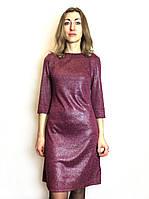 Коктейльное платье бордо с блеском П214