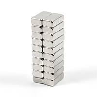 20х N50 магниты неодимовые очень сильные 10x5x3мм (набор 20 штук)