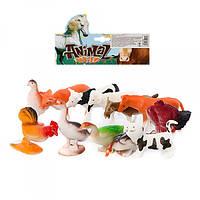 Животные 3114  12шт, домашние, от 6см, в кульке, 19,5-28-5см