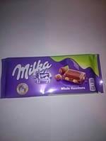 Шоколад Milka With whole hazelnuts 100гр