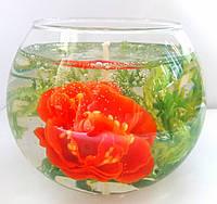 СвечА с цветком  пиона