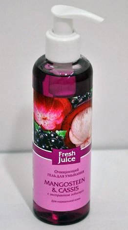 Гель для умывания Очищающий Mangosteen & Cassis (мангостин, смородина) с экстрактом гибискуса Fresh Juice 200мл., фото 2