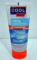 Гель после бритья для всех типов кожи Кофеин и гуарана Ultraenergy Cool Men 200мл.