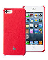 Чехол для iPhone 5/5S - Jison Microfiber wallet cover (красный)