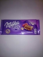 Шоколад Milka Raisin and hazelnuts 100гр