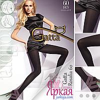 Женские колготки Gatta™. Колготы плотные мягкие бархатистые из микрофибры (Гатта) Rosalia 60 den