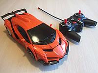 Машинка Трансформер на радіокеруванні, помаранчева, фото 1