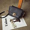 Женская сумочка маленькая черная через плечо