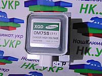 Магнетрон Samsung (самсунг) OM75S(31) на 6 пластин, крепежи параллельно контактам, для микроволновой СВЧ печи