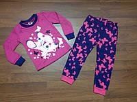 Детская одежда оптом Пижама для девочек YALOO оптом р.98-122см