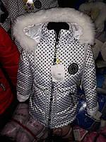 Очаровательная куртка для девочки на зиму