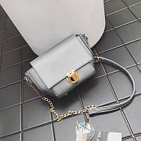 Жіноча сумочка маленька через плече срібло