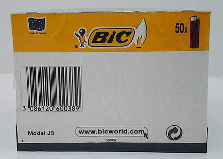 Зажигалка J3 Миди черная BIC 50шт., фото 2