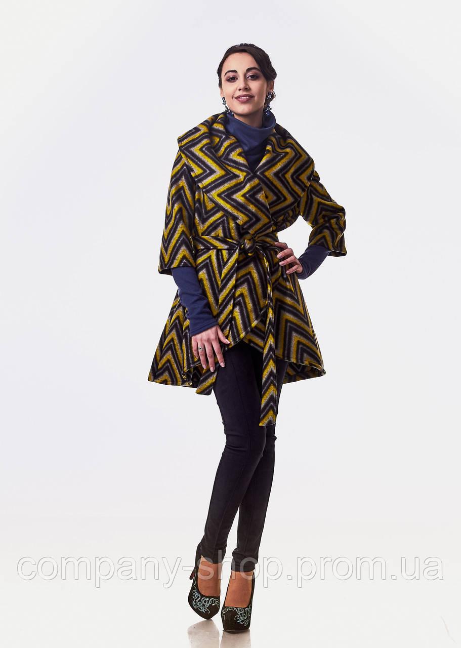 Кейп кашемировый женский опт. Модель ПЛ001_зигзаг., фото 1