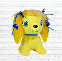 Детская мягкая игрушка,песик люси,желтая