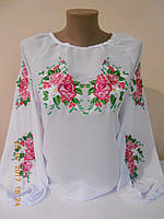 """Шифонова блузка з вишивкою """"Мелодія"""""""