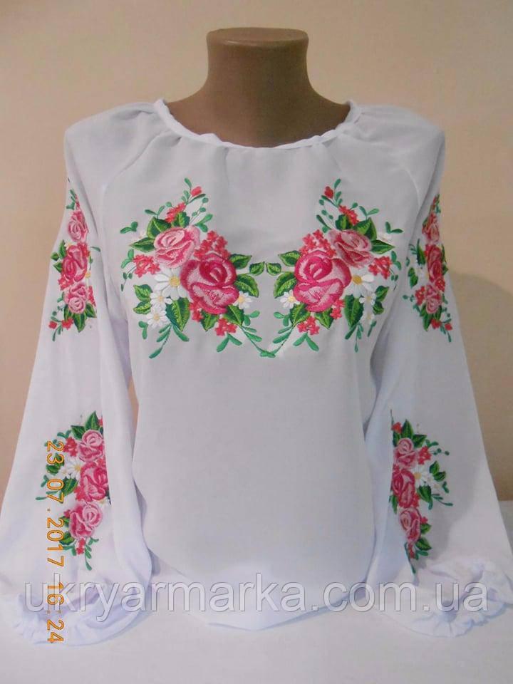 Шифонова блузка з вишивкою