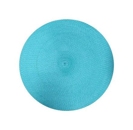 Коврик сервировочный круглый 38 см (голубой), PDL, фото 2