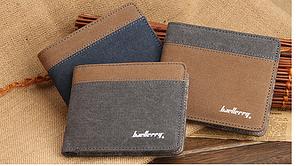 Двухцветный мужской бумажник Baellerry 3 цвета замш